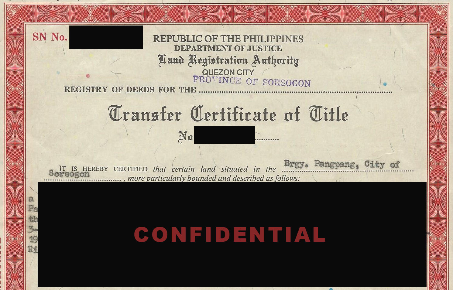 Filipino Law Group Land Title Issues In The Philippines